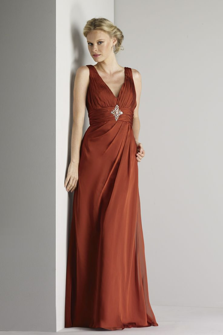 Sweetheart pleated v-neck gown with jeweled appliqué on pleated waistband