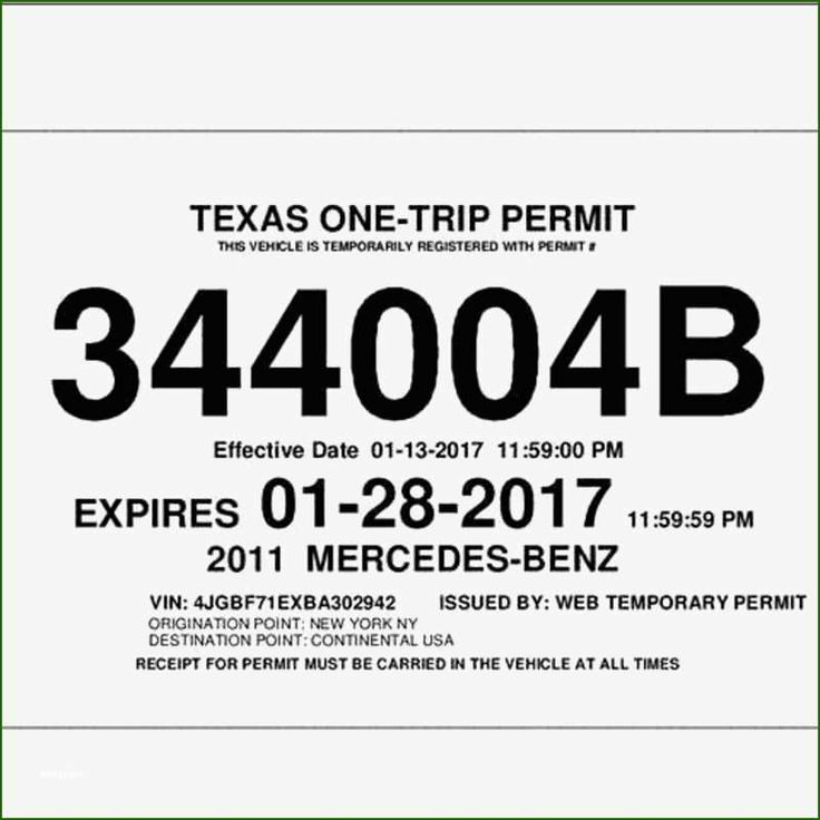 12 Wonderful Texas Temporary License Plate Template in