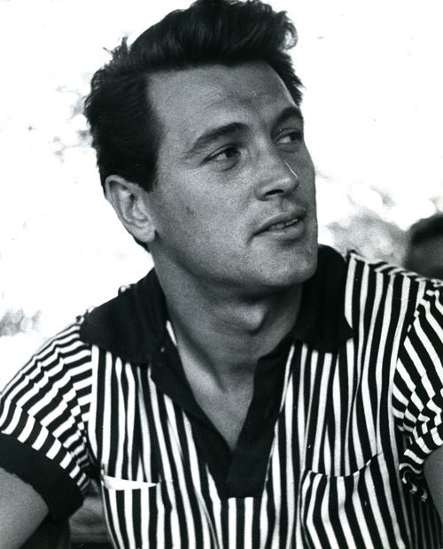 Rock Hudson, 1954, photo by Phil Stern, November 17, 1925 – October 2, 1985), age 59 from AIDS.