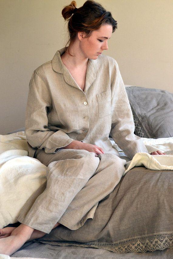 Luxurious natural linen pyjamas/ PJ's/ by HouseOfBalticLinen