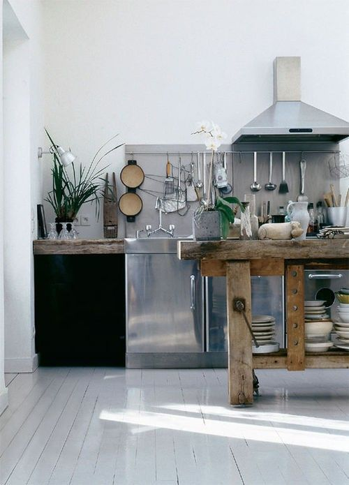 Dreamy Kitchens: Industrial Kitchen.  VanessaLarson.com