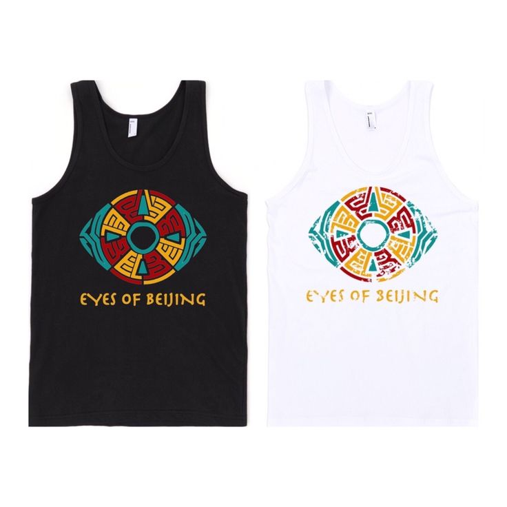 Your eyes are gazing upon the NEW Eyes of Beijing Tanks!   The perfect garments for #Summer2016!!! ________ Purchase yours here: www.bahamaprintz.com/eyesofbeijing/