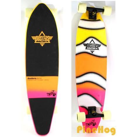 For Sale: Dusters Demo Longboard Cruiser Los Angeles California Skateboard Pink Orange