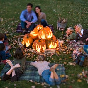 Exclusive Flame-Design Pumpkin Stencils from Better Homes and Gardens /Free Download