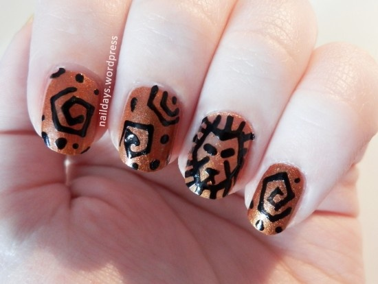 Lion King - So these nails are roughly inspired by the Lion King and you only need a roughly steady hand to do them