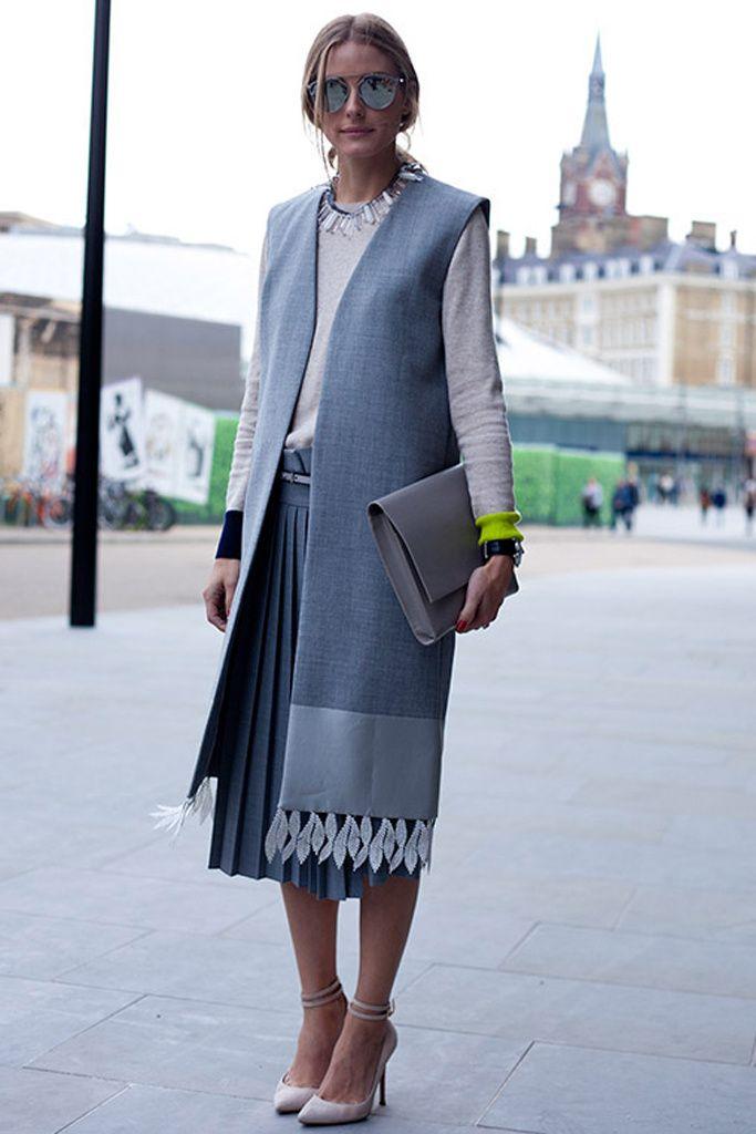 Falda plisada y chaleco