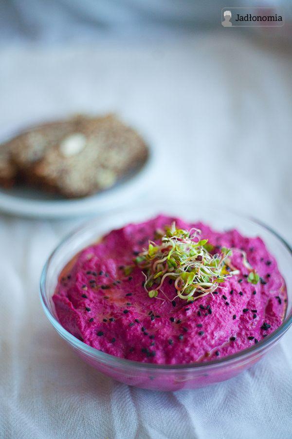 jadłonomia • roślinne przepisy: Hummus z burakiem