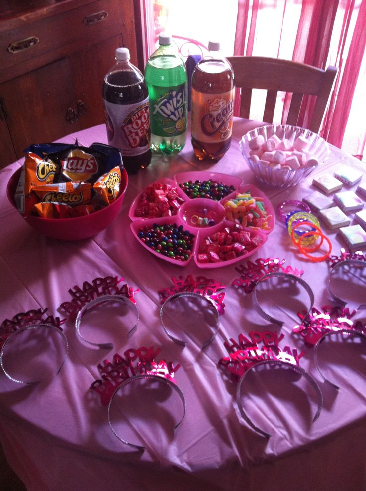 Girls 8 Year Old Slumber Party Treats Food Slumber