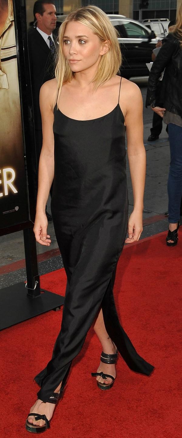 Slip dress. Ashley Olsen.