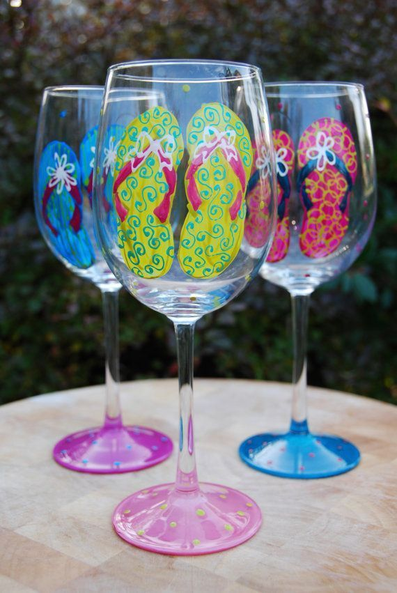 17 best ideas about hand painted wine glasses on pinterest painted wine glasses fun wine - Funny wine glasses uk ...