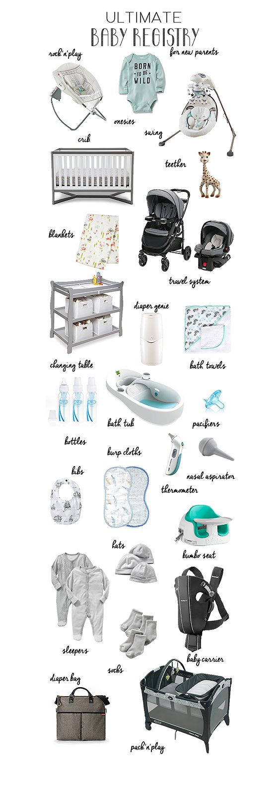 Ultimate Baby Registry for New Parents | A list of everything you ...
