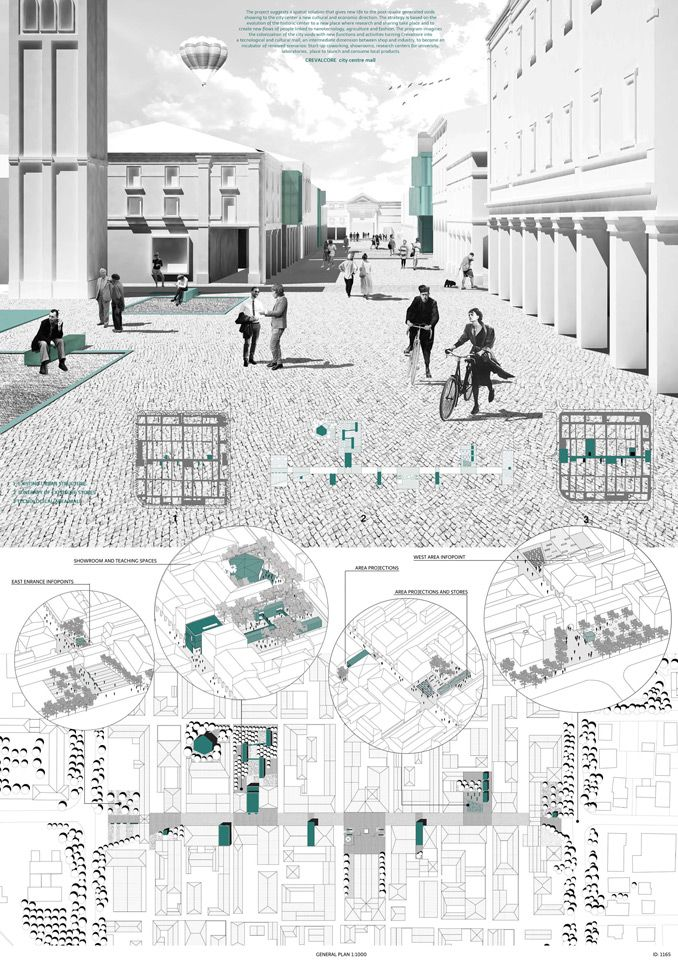Monochrome rendering + layout / Winners of the YAC – Post Quake Visions Competition