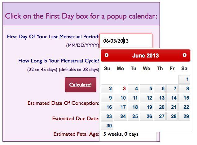 Estimated due date calculator in Australia