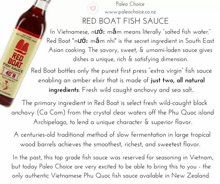 **NEW PRODUCT** - Delicious Red Boat Fish Sauce 40N, gluten free & sugar free & totally #Paleo. Degrees N is an industry standard to measure the number of grams of nitrogen per litre of fish sauce which relates to the protein level. The highest quality fish sauces are greater than 30N with the flavor becoming more rich & complex with a larger N designation. #paleochoice #fishsauce