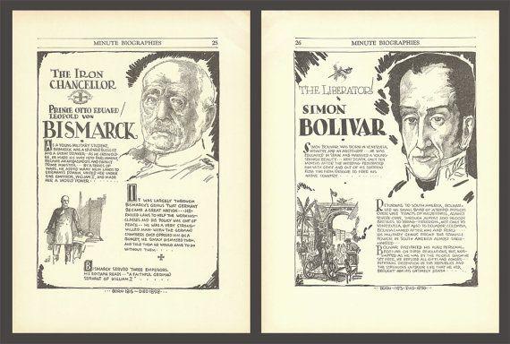 Bismarck Print Simón Bolívar Wall Art Art by DigitalArtLand