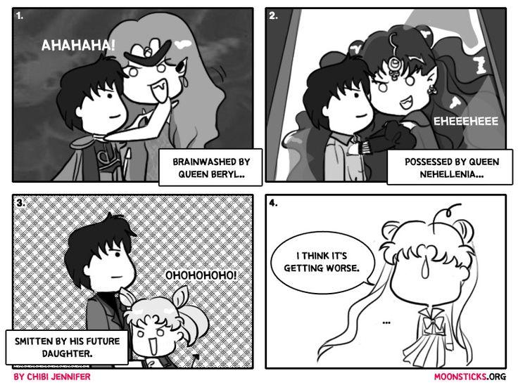 MoonSticks Sailor Moon Comic/Doujinshi #70 Mamoru Belongs to Me! featuring Mamoru Chiba/Prince Endymion, Queen Beryl, Queen Nehellenia, Chib...