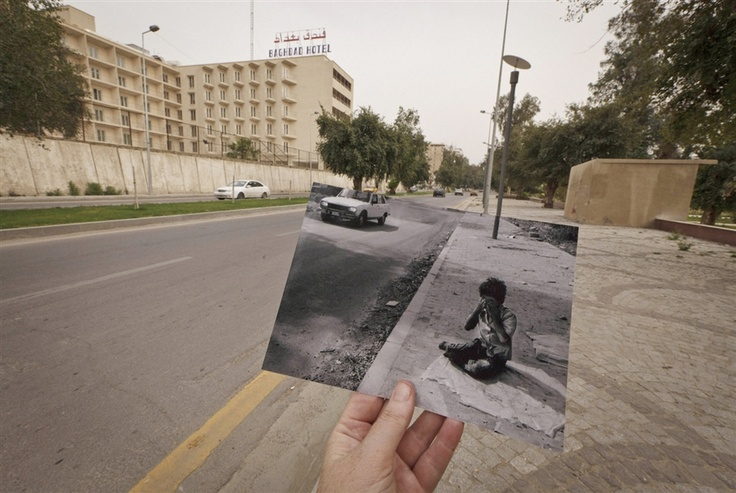 Then and now: Rephotography shows Iraqi sites 10 years after Saddam (Photo: Maya Alleruzzo / AP)