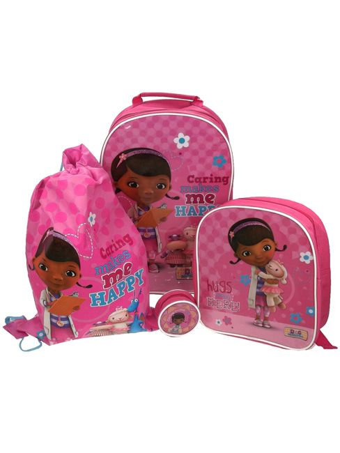 Doc McStuffins 4 Piece Luggage Set - Kids Bedroom