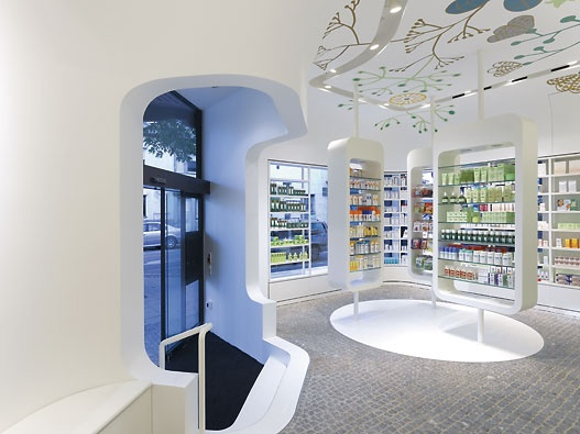 Imagine These: Pharmacy Interior Design | Linden-Apotheke | Ludwigsburg | Germany | Ippolito Fleitz Group