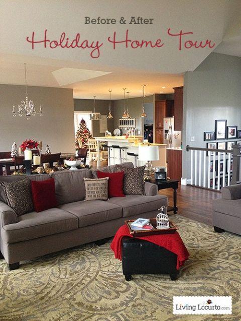 DIY Holiday Home Tour {Before & After} LivingLocurto.com