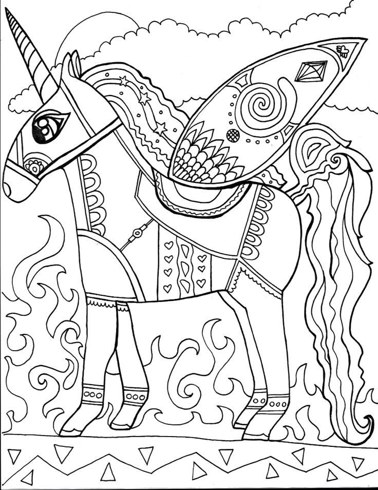 unicorn colouring page to purchase please visit our kendi art gallery website at - Lisa Frank Coloring Pages Unicorn