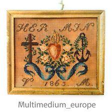 Historismus Handmade Petit Point Bead Embroidery Needlework 🌺 🌺 🌺 🌺 🌺
