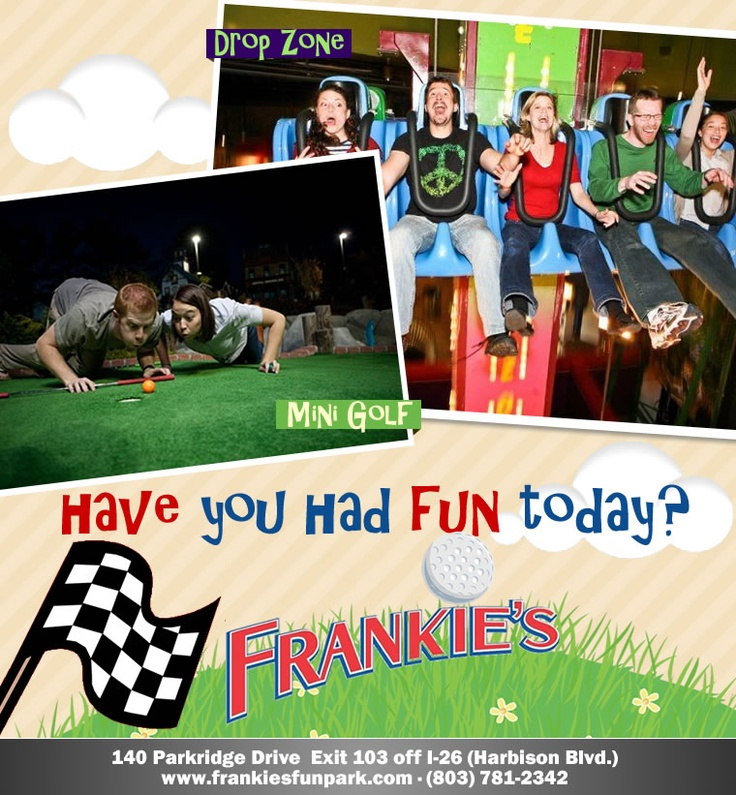 Frankies Fun Park   Columbia SC. Book a stay at #econolodgecolumbia!