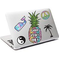iDecoz GOOD VIBES Reusable Large Vinyl Decal Sticker Skin for Your Laptop / MacBook / Pro / Air / iPad / Window / Wall / Floor / Luggage / Notebook / Skateboard / Car & MORE!