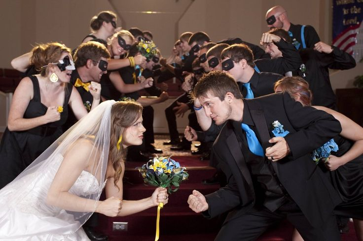 Super hero wedding!!! These pictures are phenomenal! It looked like such a great wedding! Very memorable