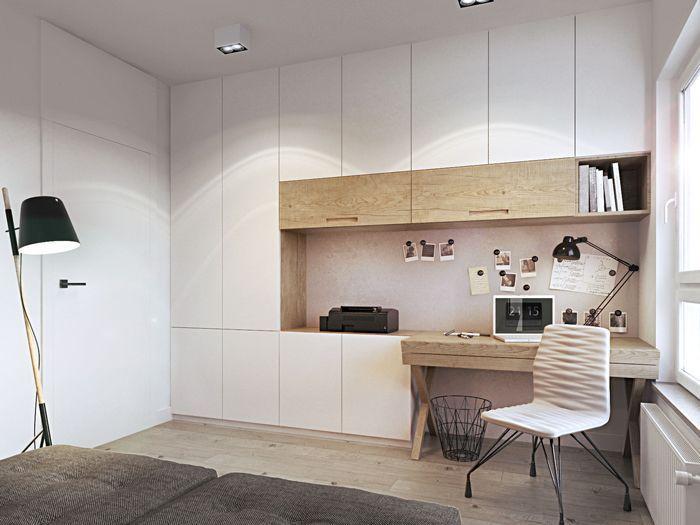 eingebautes Schlafzimmer hingegen mit mehr geschlossenen Modulen,  #eingebautes #geschlossenen #hingegen #mehr #mit #Modulen #Schlafzimmer #Smallofficeroommodern
