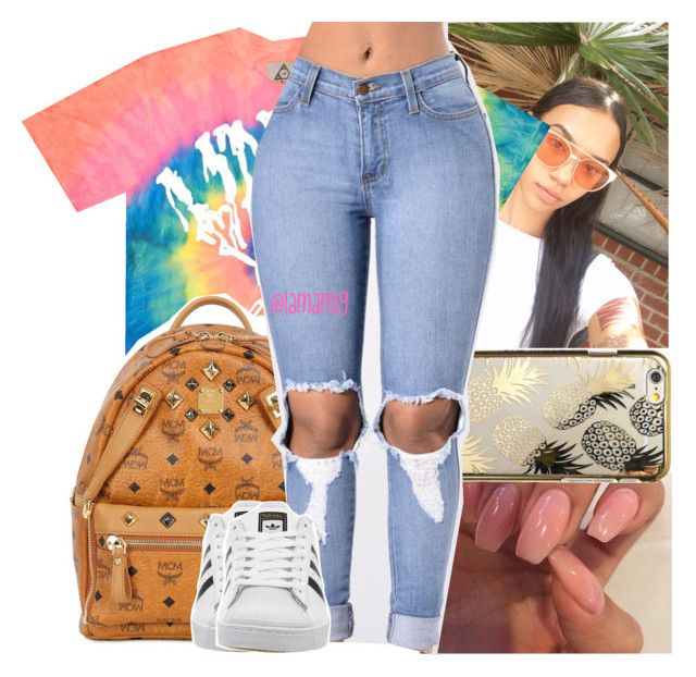 """""""last days of summer"""" by lamamig ❤ liked on Polyvore featuring UNIF, Skinnydip, MCM and adidas"""