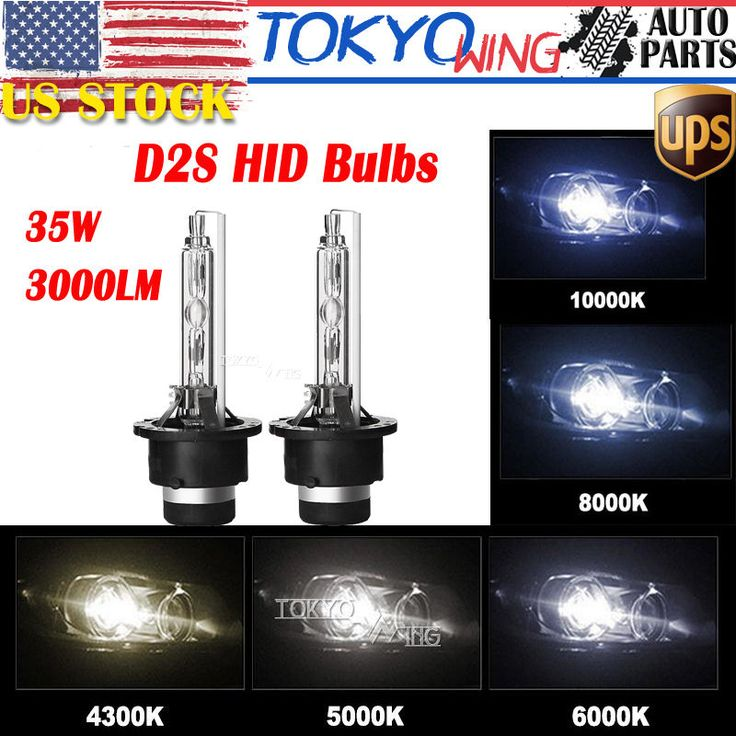 2X 35W 6000K D2S Xenon HID Headlight Bulbs Replacement for Philips OSRAM New US | eBay