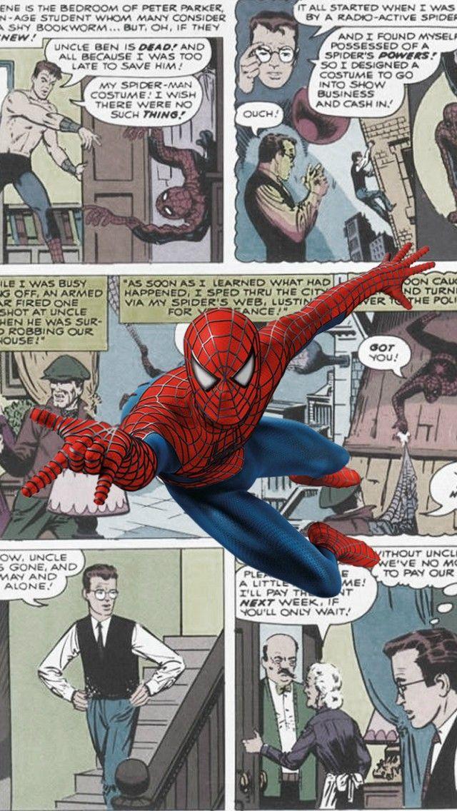 Spiderman Comics Iphone 5 Wallpaper Marvel Pinterest