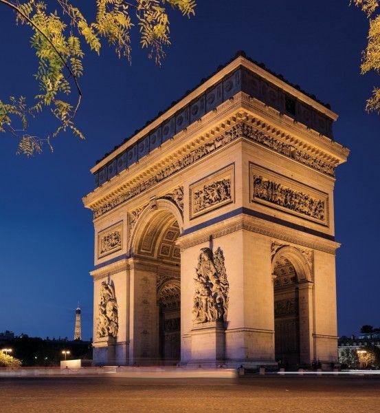 L'arc de Triomphe Frankreich 553x600 im Frankreich Reiseführer http://www.abenteurer.net/716-frankreich-reisebericht/