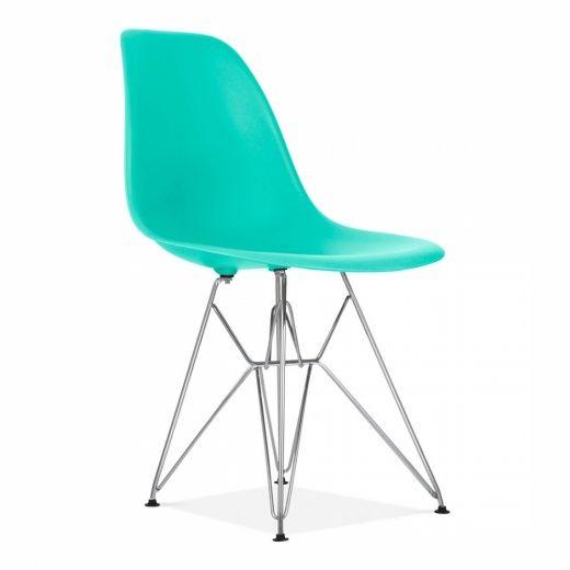 Chaise de Cuisine Design de Style DSR Eiffel Turquoise   Cult UK
