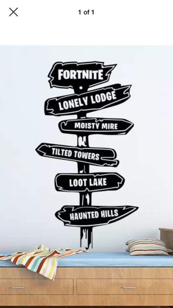 fortnite gamer pack xbox ps4 wall art sticker decal boys bedroom