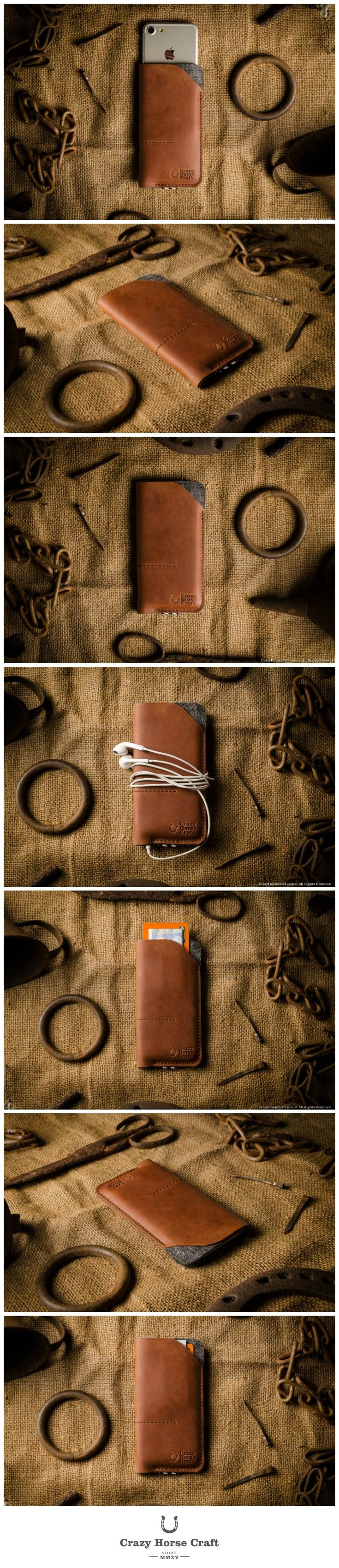 Leather iPhone Case / Wallet with Card Pockets | Classic Orange - Come check out our luxury phone cases. Different styles for every type of personality!