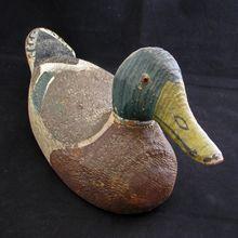Early 20th century hand painted folk art mallard duck decoy c1920 $240