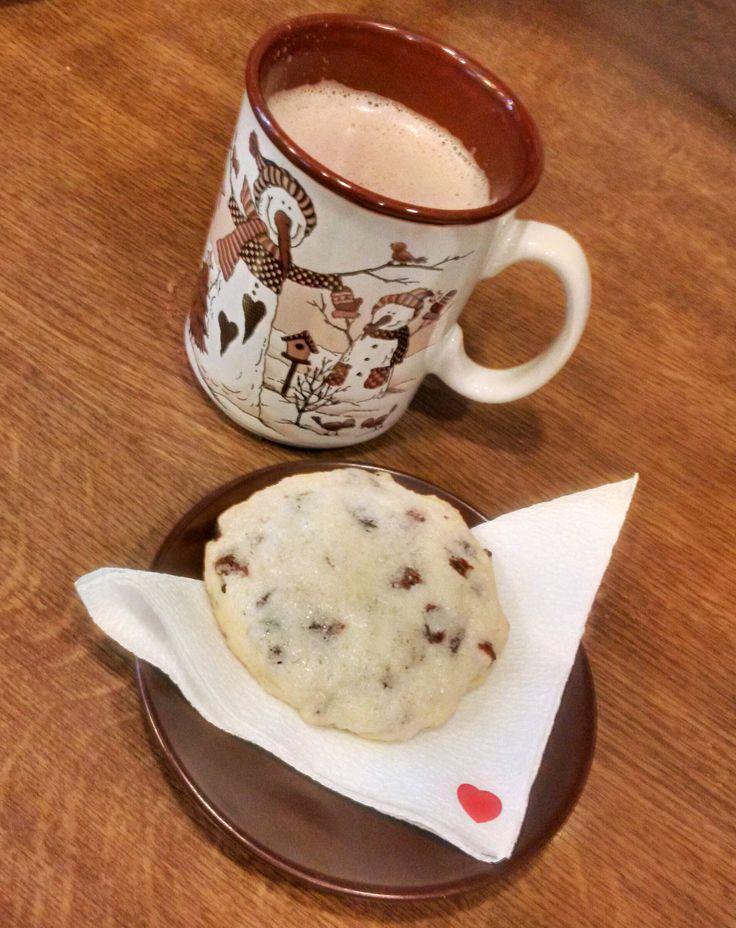 hot chocolate & #chocolate #cookie