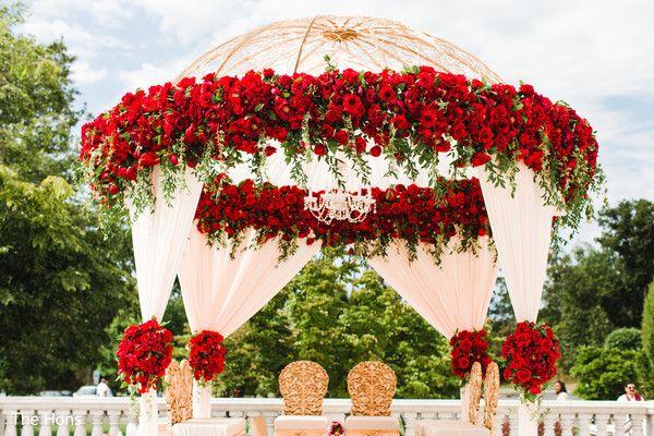 Mandap photography at indian wedding ceremony http://www.maharaniweddings.com/gallery/photo/111726 @ElegantAffairs1 @tumhihoevents