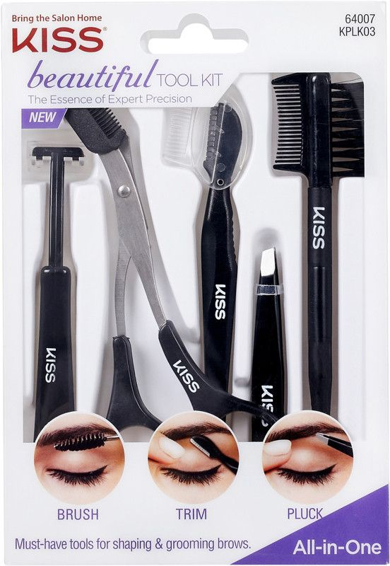 d4dff768b728 KISS Beautiful Brow Tool Kit - Create perfectly polished brows with ...