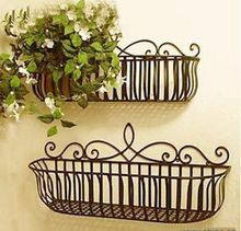 Wrought iron wall decorative wall shelving Flowerpot holder / iron hook / wall decoration planters(China (Mainland))