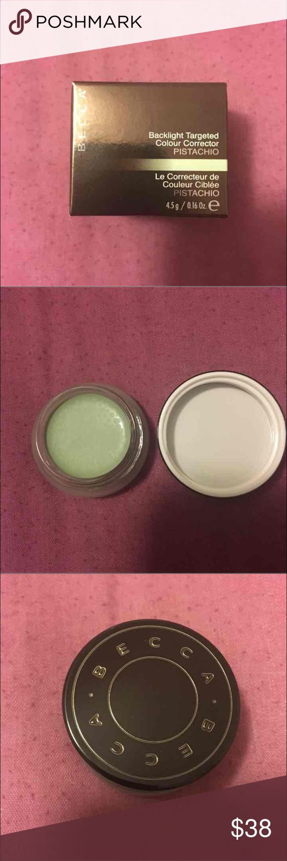 Becca Colour Corrector Pistachio Brand new in box. Corrects redness. BECCA Makeup