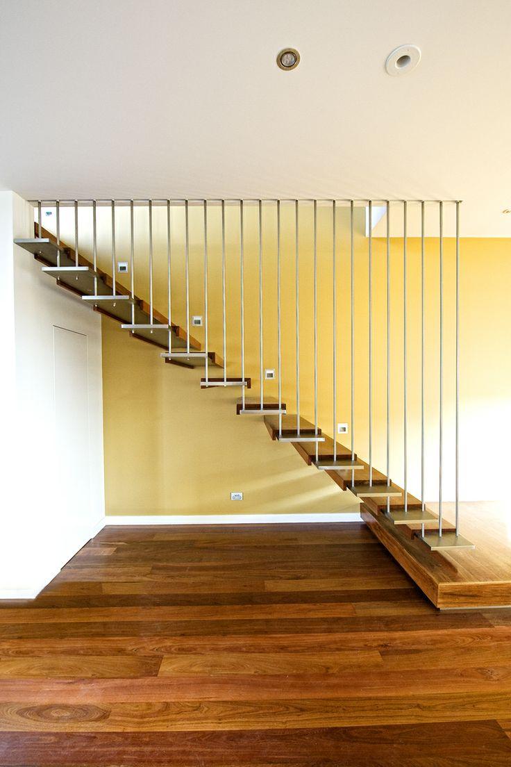 Grey Ironbark timber floor and stair treads