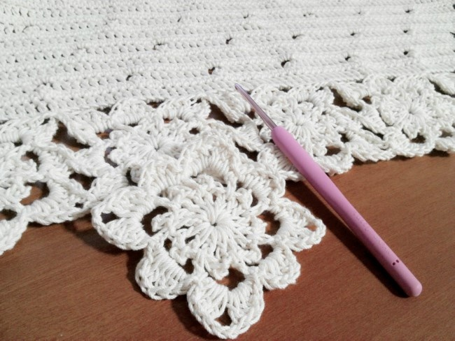 crochet covering.