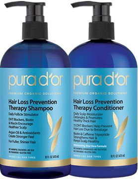 pura d'or Hair Loss Prevention Therapy Shampoo & Healing Conditioner: Product Review