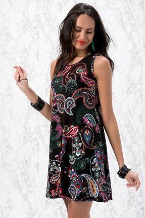 Siyah A Form Elbise Y231