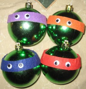 DIY TMNT ornaments!