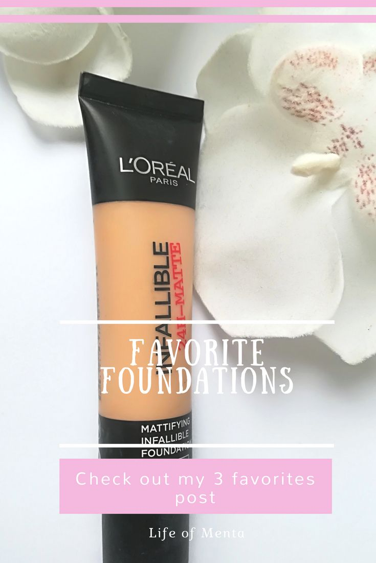 One of my go-to foundations is the L'Oreal Infallible Matte. It's also a dupe for the Estee Lauder Double Wear foundation. #makeup #beauty