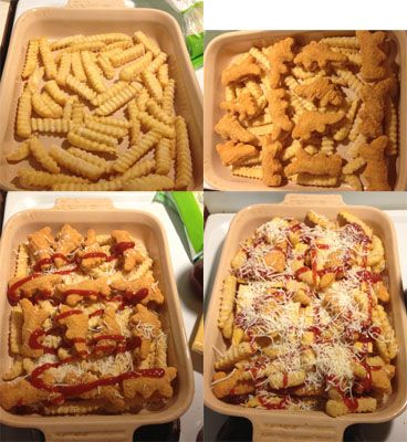 Chicken Nugget Casserole Directions #DipDipHooray Kids would like this